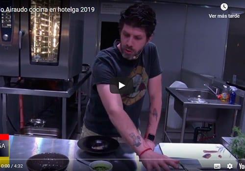 Paulo Airaudo cocina en hotelga 2019